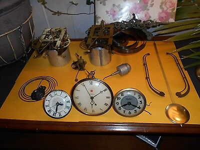 Large Lot of Misc. Antique Clock Parts and Tools