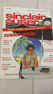 Sinclair User Magazine - VINTAGE FIFTH EDITION August 1982