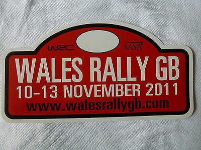 Wales Rally Gb 2011 Official Sticker