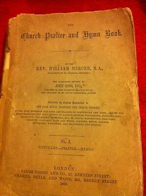 Church Psalter And Hymn Book Vintage 1863