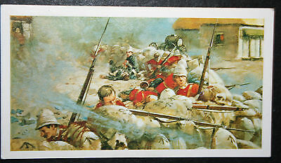 24th Regiment  South Wales Borderers  Zulu War   Colour Action Card  # EXC