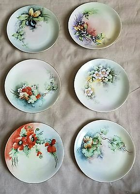 Uno Favorite Bavaria Plates 6-6inch Hand Painted