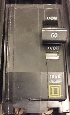 New Square D Qob260 Circuit Breaker 60A  3 Pole  240 Volt Best Price Free Ship