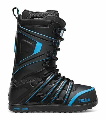 ThirtyTwo 32 Prime Mens Snowboard Boots Black Blue Lace Up UK8 NEW RRP£290