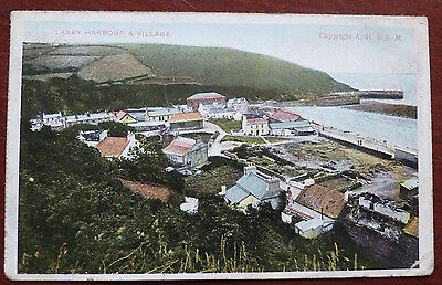 Vintage Postcard Laxey Harbour & Village- Posted 1908
