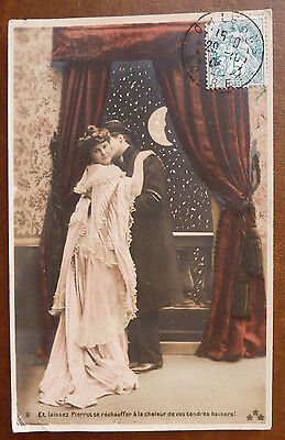 Vintage French Postcard, Lovers/Romance Posted 1904