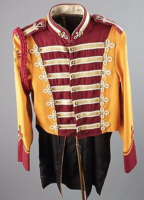 Vtg 60s Marching Band Sgt Peppers Uniform Jacket sz 40 1960s Brass Buttons #2471