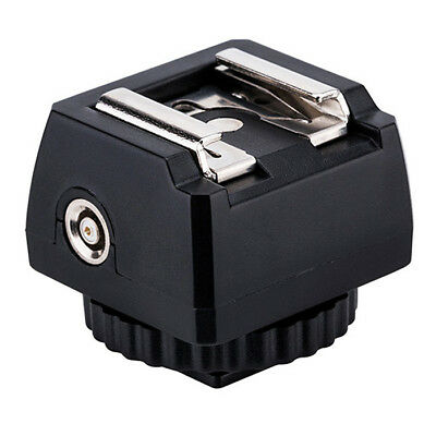 """Standard Hot Shoe Adapter with 1/4""""-20 Tripod Socket and PC Sync 3.5mm Port"""