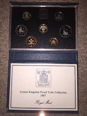 United Kingdom Royal Mint 1987 Proof Coin Collection - With COA 30th Birthday ��