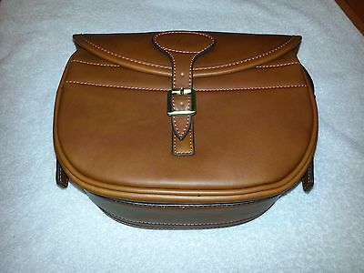 Tanned Guardian Leather Cartridge Bag, Pouch, For 100-125 Shells,gun,ha075Tanned