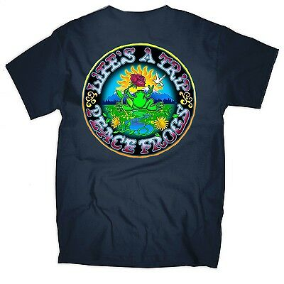 Peace Frogs - Lifes A Trip - T-Shirt Adult Medium