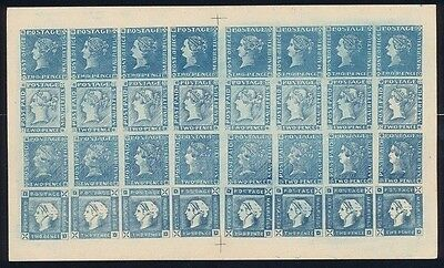 MAURITIUS 1847-59 QV 2d blue 4 diff issues - full sheet 1880s Spiro productions!