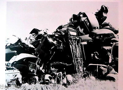 Postcard / Berenice Abbott /Pile of junked cars, West Palm Beach, Florida / 1954