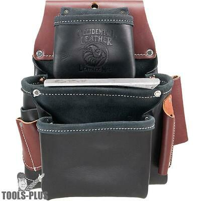 3 Pouch Pro Fastener Bag - Black Occidental Leather B5060 New