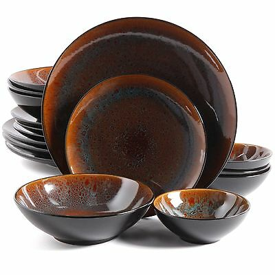 Gibson Kioto 16 Piece Dinnerware Set, Blue