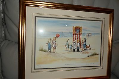"""Faye whittaker Limited Edition print """"The punch and Judy show"""" mint condition"""