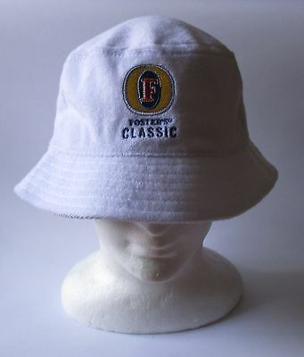 Fosters Lager Beer brand new terry towel bucket hat cap for home bar collector
