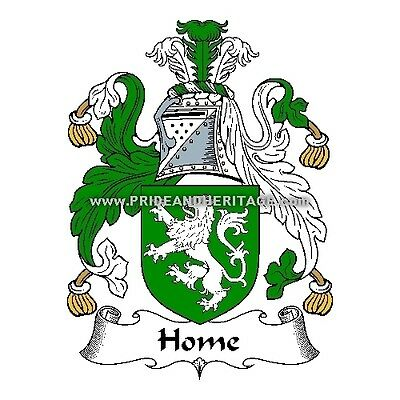 "Genealogy, Family Crest, Coat Of Arms 6"" Decal- Scottish- Home or Hume"
