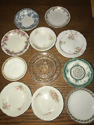 Vintage Lot Of Butter Pads Different China Patterns Johnson Bros. And Limoge Etc