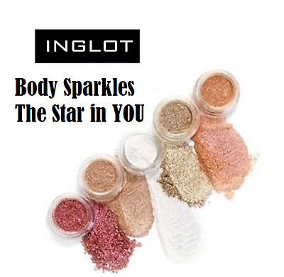 New* INGLOT Body Sparkles The Star In You Collection Pigment 100% Authentic