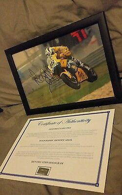 valentino rossi genuine signed framed photo with coa