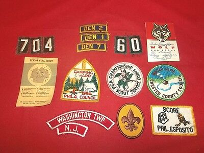 Lot Of Vintage BSA Boy Scout Cub Scout Girl Scouts Patches!