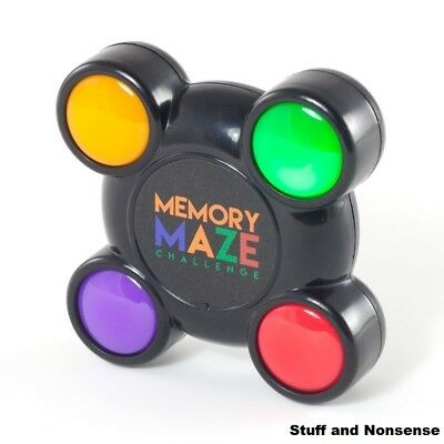 Memory Maze Pocket Light and Sound Sequence Remembering Challenge Game Puzzle