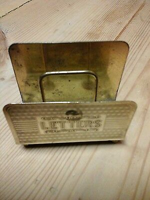Vintage cute Brass Letter Rack, small, made in England