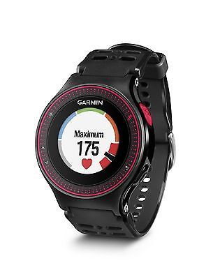 Garmin Forerunner 225 GPS Running Watch with Wrist-based Heart Rate Black/Red