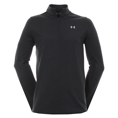 SALE - Under Armour Coldgear Mid Layer Zip   Black   Small