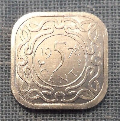 Suriname  1978  5 Cent Foreign Coin   KM#12.1a