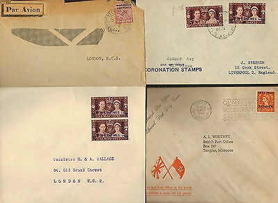 ESPAGNE COLONIES  4 OLD covers with OLD nice stamps