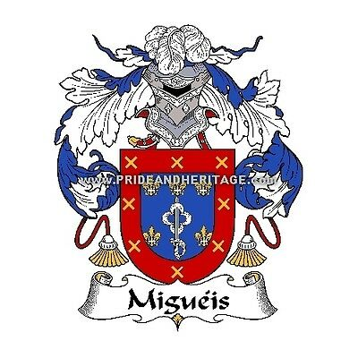 """Genealogy, Family Crest 6"""" Decal- Portuguese- Migueis"""