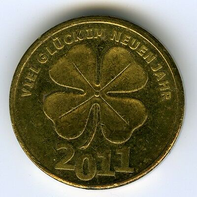 ☆ ☆ Germany ☆ New Year 2011 Token ☆ Good Luck, Clover • Wishing Happiness ☆C2485
