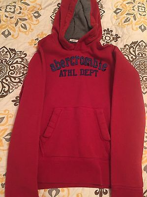 Abercrombie Kids Boys Pullover Hoodie Sweatshirt Size XL-Red