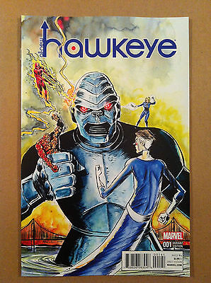 "All-New Hawkeye V.2 #1 Jeff Lemire 1:10 ""kirby"" Variant Cover Nm 1St Printing"