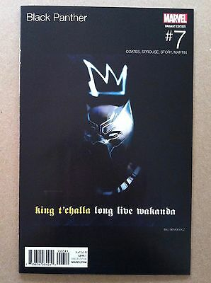 Black Panther (2016) #7 Bill Sienkiewicz Hip-Hop Variant Cover Nm 1St Printing