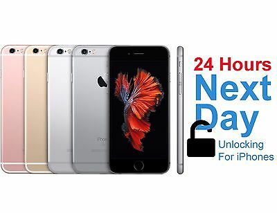 UK EE iPhone 5 5S 5C 6 6+ 6S 6S+ SE NEXT DAY Permanent Factory Unlocking Service