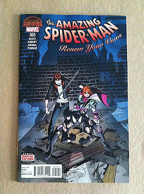 Amazing Spider-Man Renew Your Vows #5 Secret Wars 2015 Mary Jane Nm 1St Printing