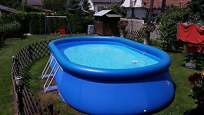 BESTWAY Fast-Set-Pool Ovalbecken 549 x 366 cm, Höhe 122 cm