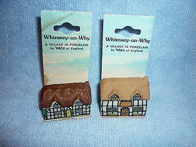 2 x 1980'S WADE WHIMSEY-ON-WHY COTTAGES NO 1 & 5 STILL ON CARD VGC