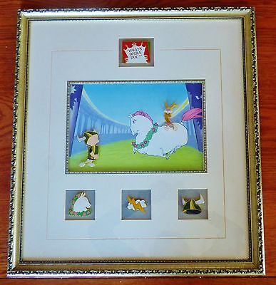 """1999 Warner Brothers L.e. """"what's Opera Doc"""" Lithograph & 6 Pins Coa Bugs Bunny+"""