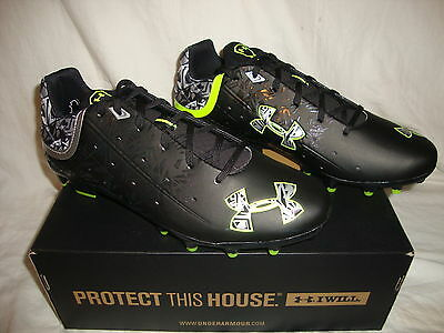 Under Armour 1250089 Men's Banshee Low MC Lacrosse Cleats Size 8.5 - Black
