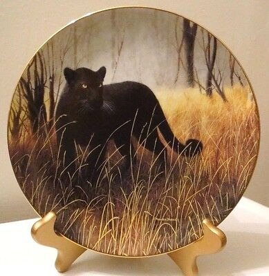Wild Animal Black Panther Collector Plate Powerful Presence Charles Frace 1991