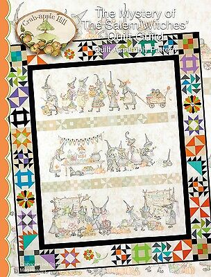 MYSTERY OF THE SALEM WITCHES QUILT ASSEMBLY, From Crabapple Hill Studio NEW