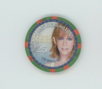 Las Vegas Hilton Reba McEntire 2006 Key to the Heart $25 Casino Chip LTD 500