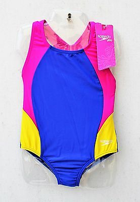 New Speedo Girls One-piece Swimsuit, Multi-color, Size 12, NWT