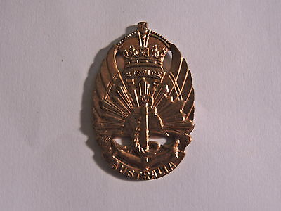 Very Rare Ww2 1948 Navy Service Original War Badge Aif  Us Amor Sydney