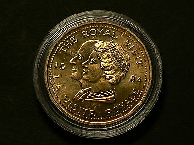 Canada Ontario 1784 1984 Royal Visit Celebrating Together Medal #2877