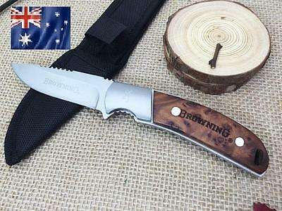 Browning 338 Survival Knife Fixed Blade Knife With Nylon Sheath Hunting Tactical